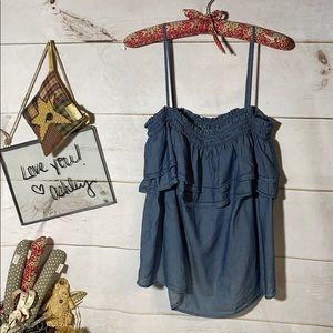 Loft; Blue; Camisole; tank top; Sun Top; L